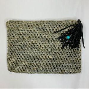 ÁLE by Alessandra Ambrosia Boheme straw bag Silver